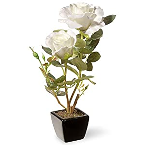 National Tree Company Potted Roses Silk Flower 103