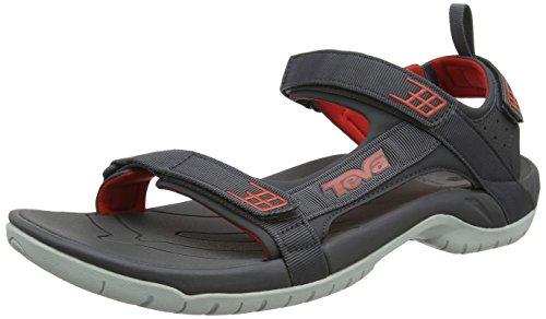 Teva M Tanza M, Zapatillas de Atletismo para Hombre Gris (Dark Shadow/ Red)