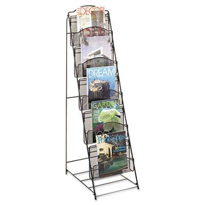Safco - Onyx Magazine Floor Rack 12-1/2W X 18-1/2D X 46H Black ''Product Category: Office Furniture/Display Racks & Cases'' by Original Equipment Manufacture