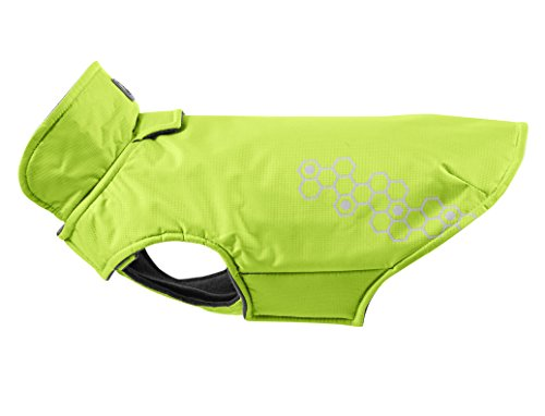 RC Pet Products Venture Outerwear Fleece Lined, Reflective, Water Resistant Dog Coat, Size 16, Lime Punch (Outerwear)