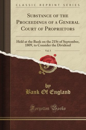 Read Online Substance of the Proceedings of a General Court of Proprietors (Classic Reprint) ebook