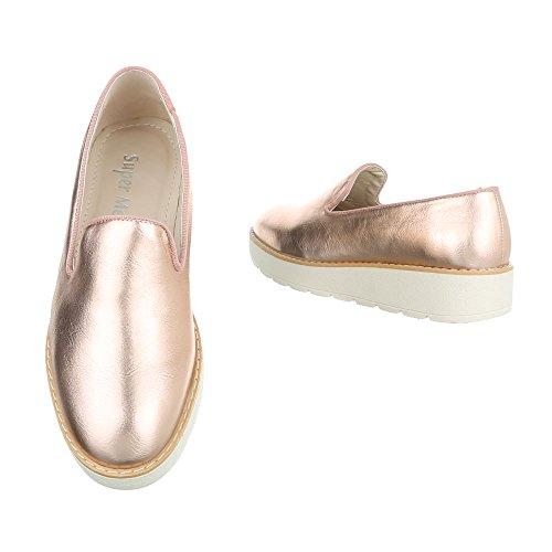 Ital-Design - Tobillo bajo Mujer Rosa Gold