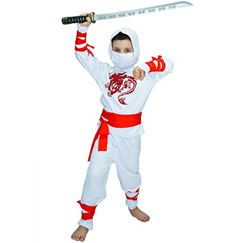 Ninja Children's Costumes (4-6 Years, White) -