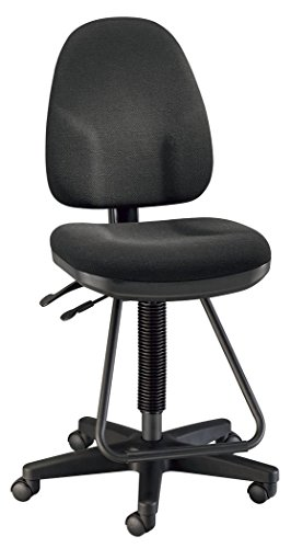 Alvin DC555-40 Black Executive Drafting Height Monarch Chair