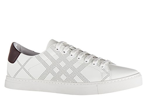 Burberry chaussures baskets sneakers homme en cuir albert blanc