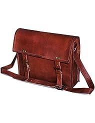 jaald genuine Leather Messenger Bag Laptop Briefcase Satchel Mens shoulder Bag