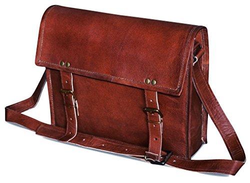 Jaald genuine Leather Messenger Bag Laptop Satchel