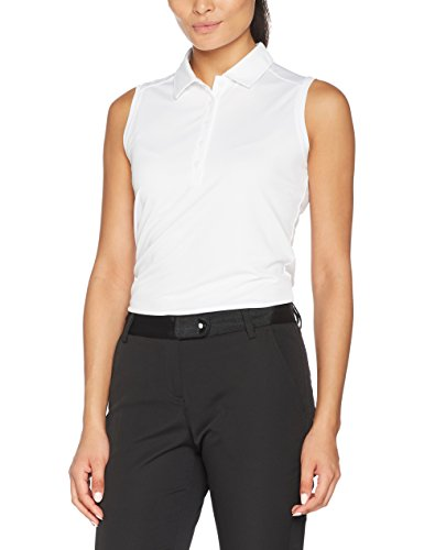 NIKE Golf Women's Victory Solid Sleeveless Polo White/Black LG