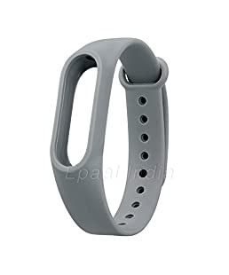 Epaal Wristband Strap for Xiaomi Mi Band 2 and Mi Band HRX Edition with Adjustable Buckle (Gray)
