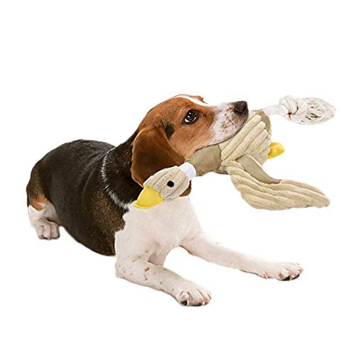 Bolux Dog Toys Stuffed Squeaking Duck Toy Plush Puppy Honking Duck for Dogs Pet Durable Chew Squeaky Toy