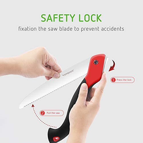 VIVOSUN Folding Hand Saw All-Purpose, for Tree Pruning, Camping, Hunting, Toolbox, Professional Pruning Saw with Rugged 9.4 Blade, Solid Grip