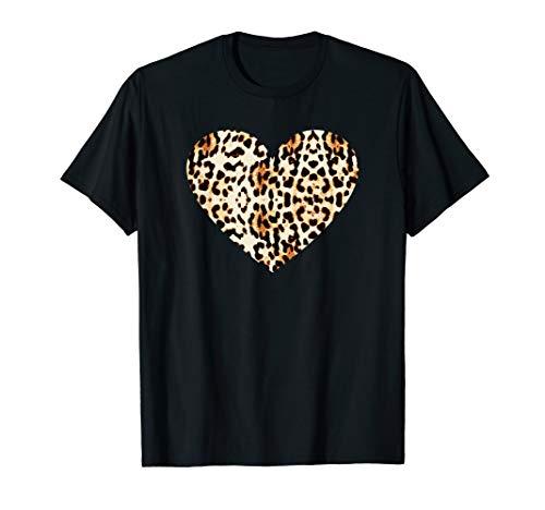 Cool Cheetah Leopard Print Heart T-Shirt ()