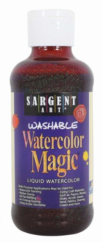 Sargent Art 22-9038 8-Ounce Glitter Watercolor Magic, Magenta