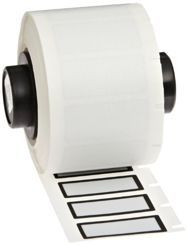 Brady PTL-24-486-BK Ultra Aggressive Metallized Polyester TLS 2200/TLS PC Link Labels , Silver With 1/16'' Black Border (500 Labels per Roll, 1 Roll per Package) by Brady