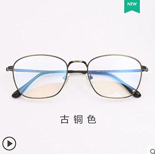 hembra de D radiaciones puro anti teléfono gafas luz montura el macho plano gafas Titanio azul las espejo móvil titanio B retrovisor azules puro anti gafas de gafas KOMNY gafas contra ojo 5C1wYXxnq