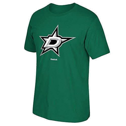 Dallas Stars Reebok Primary Logo Men's T-Shirt - Kelly Green (Small) -