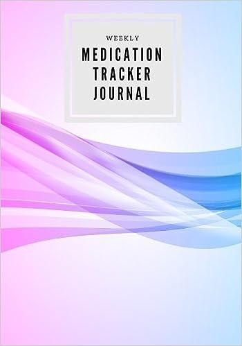buy weekly medication tracker journal daily medicine reminder log