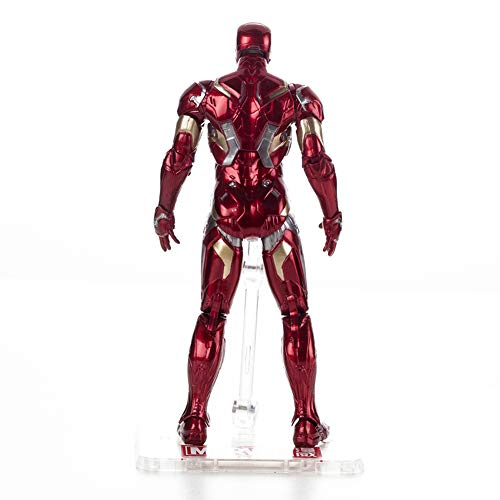 Rulercosplay Marvel Authorization Avengers 3 Iron Man Captain America Black Panther Action Figures 7 inches (Iron Man)