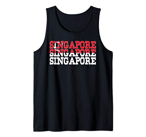SINGAPORE | Singaporean Flag Sports Lovers Design Tank Top