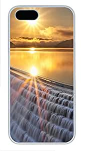 iPhone 5 5S Case Landscapes sunset 7 PC Custom iPhone 5 5S Case Cover White