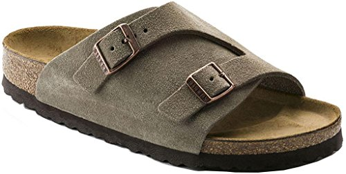 Birkenstock Mens Zurich Sandal Taupe Suede Size 42 EU (9-9.5 M US Men) by Birkenstock