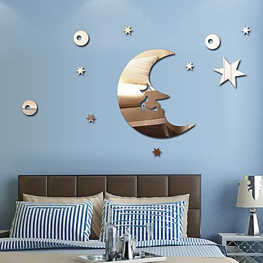 Amazon.com: XGHC 1 PC Mirrors Shapes Abstract Wall Stickers Crystal ...