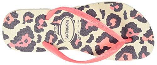 Coral Beige 9378 Animals Multicolore Infradito New Donna Slim Havaianas xnwv8q4Yan