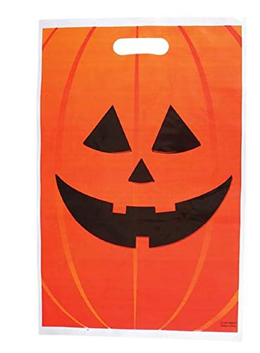 Halloween Sweet Bags (Jack-O-Lantern Halloween Trick or Treat Poly Bags - 100)