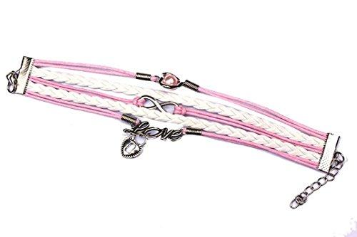 Swyss Fashion Women Bangles Multilayer Pearl Heart Friendship Chain Charm Bracelet Sweet Cute