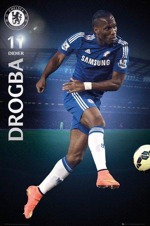 Didier Drogba - Chelsea 2014-2015 Art Print Poster by Sei