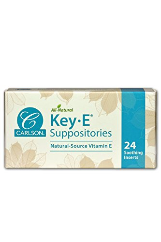Carlson Key-E Suppositories, Natural Vitamin E, Box of (Vaginal Inserts)