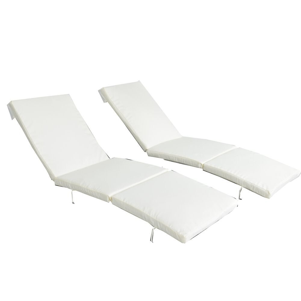 Outime Replacment Cushion for Outime Lounge Chair Set with Foam and Cover Set of Two,Beige