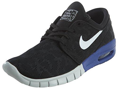 Nike Men's Stefan Janoski Max Black/White/Deep Night Skate Shoe 8.5 Men