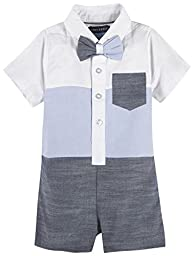 Andy & Evan Andy & Evan Baby Boys Colorblocked Shirtall, Blue, 3/6