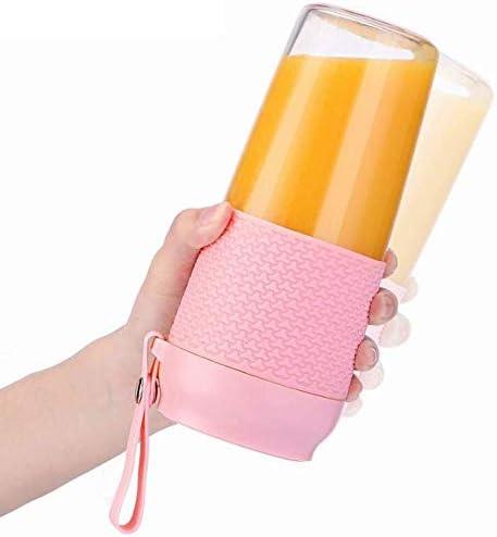 Juicers XMJ Eenvoud Blender USB Oplaadbare Draagbare Waterdichte Quick Juice Titanium Blade RVS Fruit Juice Cup Roze XMJ
