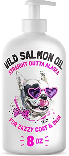 LEGITPET Wild Alaskan Salmon Oil for Dogs & Cats - Pure Fish Omega 3 6 9 Liquid Fatty Acids - Skin & Coat Supplement - Supports Joint Function, Immune & Heart Health 8 oz