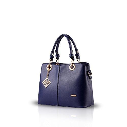 Fashion Zaffiro Pu Nicole Della Spalla Donne Di Tote Donna amp;doris Handle Crossbody Borsa Nuove Azzurro Cartella Top Del Boutique qaxaUIFw