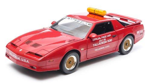 GreenLight 1987 Talladega 500 Pace Car Pontiac Trans Am GTA Diecast Vehicle, Flame Red, Scale 1:18