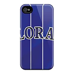 Iphone 4/4s FhT11303Rocl Custom Trendy Colorado Rockies Pictures Protector Cell-phone Hard Cover -KellyLast