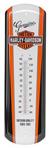 Harley-Davidson Nostalgic Bar & Shield Tin Thermometer, 5 x 17 inch HDL-10089