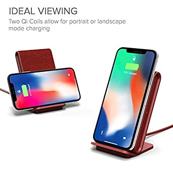 Ash Includes USB C Cable /& AC Adapter iOttie iON Wireless Fast Charging Stand Qi-Certified Charger 7.5W for iPhone Xs Max R 8 Plus 10W for Samsung S9 Note 9