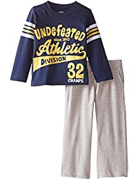 Gerber Graduates Baby and Little Boys' Screen Print Long-Sleeve Top and Pant Set