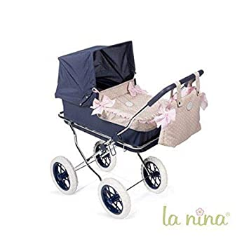 Amazon.es: La Nina- Carrito con capazo para muñecas, 44 x 37 ...