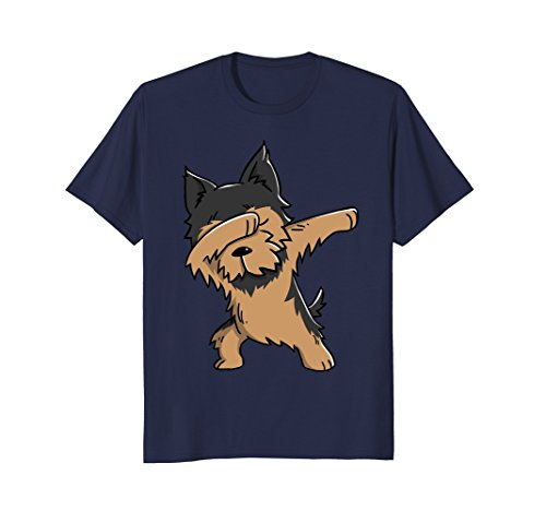 Dabbing Yorkshire Terrier Funny Yorkie Dog T (Yorkie Dog T-shirt)