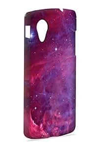 Case Fun Case Fun Orion Pink Nebula Snap-on Hard Back Case Cover for Google Nexus 5