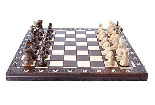 Schach - Ambassador Lux 54 x 54 cm - Schachspiel aus Holz