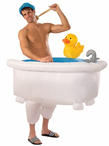 (Forum 75832 Men's Good Clean Fun Inflatable Bathtub Costume, One Size, Multicolor, Pack of)