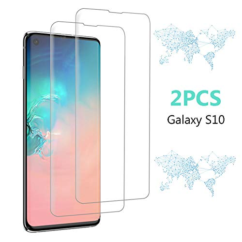 ((2 Packs)Tempered Glass Screen Protector for Samsung Galaxy S10, Full Screen Coverage Screen Protector, 3D Curved Tempered Glass, HD Clear Anti-Bubble Film with Easy Installation.)