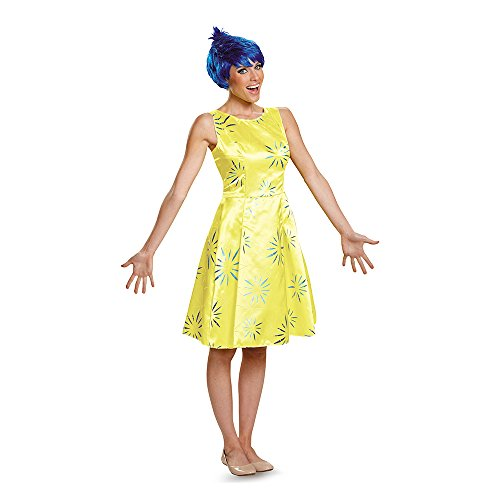 Adult Disney Costumes (Disguise Women's Inside Out Joy Deluxe Costume, Yellow, Large)