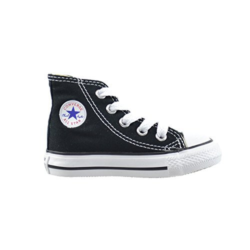 Converse All Star CT Infants Baby Toddlers Canvas Black/White 7j231 (6 M US)